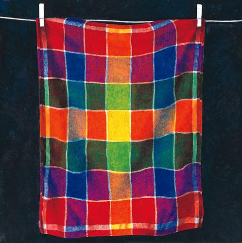 Handdoek aan een drooglijn