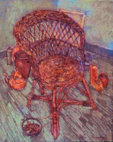De rieten zetel