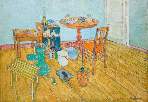 Eerste atelier met ronde tafel 1957